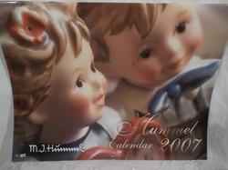 HUMMEL naptár 2007 HUMMEL gyűjtőknek - gyönyörű - újnak látszó 31 x 23 cm