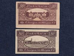2 db osztrák szükségpénz 1920 (id7404)