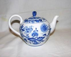 Teáskanna Meissen hagyma mintás Hutschenreuther porcelán
