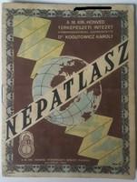 NÉPATLASZ 1943as kiadás Dr Kogutowicz Károly szerkesztette mérete:11cmX14,5cm