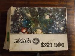 Régi, retró üres karácsonyi szaloncukros papírdoboz-amikor még 1 kg cukor volt egy dobozban