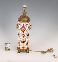 Asztali lámpának alakított Zsolnay kerámia