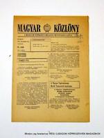 1978 december 10  /  MAGYAR KÖZLÖNY  /  Régi ÚJSÁGOK KÉPREGÉNYEK MAGAZINOK Szs.:  9021