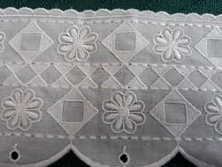 Gyönyörű polccsipke,dekorációs szalag,csipke csík,sáv-5,8méter