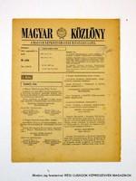 1978 szeptember 12  /  MAGYAR KÖZLÖNY  /  Régi ÚJSÁGOK KÉPREGÉNYEK MAGAZINOK Szs.:  9022
