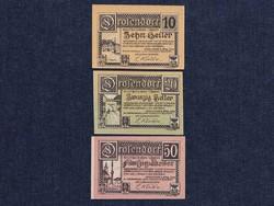 3 db osztrák szükségpénz 1920 (id7405)