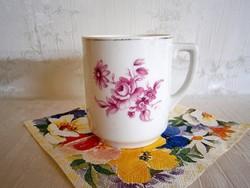 Régi virág mintás Drasche porcelán bögre, csésze