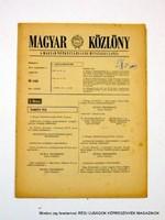 1978 szeptember 7  /  MAGYAR KÖZLÖNY  /  Régi ÚJSÁGOK KÉPREGÉNYEK MAGAZINOK Szs.:  9020