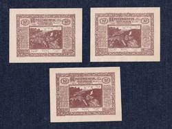 3 db osztrák szükségpénz 1920 (id7580)