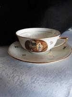 Francia   teás  csésze   szűz  Mária  képpel   ritkaság    5000 ft
