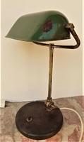 Bauhaus 20-30-as évek bankár lámpa. retró loft design. Működik!
