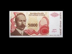 UNC - 50 000 DINÁR - BORSZNIA-HERCEGOVINA - 1993 Ma már ritkaság!
