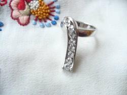 Swarovski köves különös formájú gyűrű