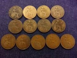 Anglia - V. György One Penny 13 db évszám gyűjtemény (id7752)