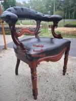 Eredeti antik bőr chesterfield karosszék (íróasztal szék)!