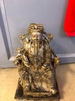 Antik Ming császár szobor (réz)(bronz)