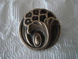 Régi art deco fém ruhagomb vintage női gomb díszgomb 2 db