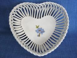 Szív alakú kerámia tál