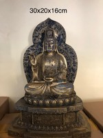 Antik buddhaszobor bronz(réz)