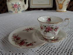 ROYAL ALBERT Levender Rose rózsa mintás reggeliző tányéros teás szett