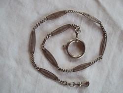 Szép antik ezüst Zsebóra lánc