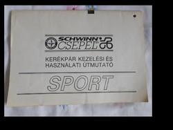 Schwinn Csepel kerékpár kezelési és használati útmutató (1990)