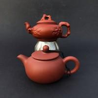 2 db kínai yixing jelzett kerámia teás kanna - Kína