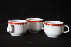 3 db alföldi porcelán kávéscsésze
