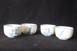 4 db kínai porcelán kávéscsésze