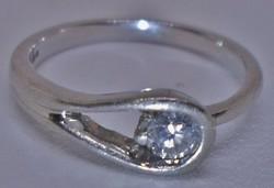 Különleges platina eljegyzési gyűrű 0.25ct szép brill kővel