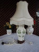 Angol porcelán testű asztali , éjjeli lámpa