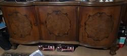 Antik tálaló szekrény páros (1 nagy és 1 kisebb)