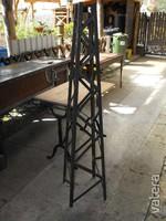 Kovács-Manó alkotás Retro Loft lámpa Acél oszlop láb ipari szegecselt industrial vas vintage
