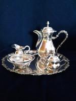 Csodás ezüst szett kávézáshoz 1336 g