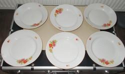 6 db-os zsolnay porcelán tányér pótlásra képen látható állapotban