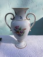 Hollóházi kézzelfestett váza. 29 cm magas.