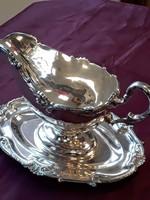 Szecessziós ezüst szószos kiöntő