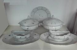 GERMANY jelzésű, Német leveses porcelán, 2 készlet (kétféle minta)