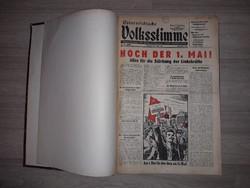Wolksstimme osztrák újság egybe kötve 1956