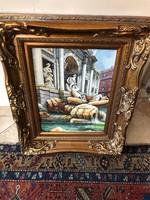 Olasz festmény: Trevi kút