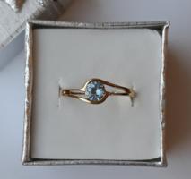 Kék köves arany gyűrű