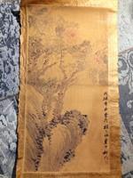 Kínai tinta kép - Kína -  papír tinta rajz tájkép.