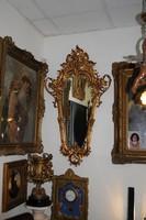 Eredeti Bécsi rokokó falitükör tűz-aranyozott, Velencei metszett tükörrel! Bécs cca. 1760.