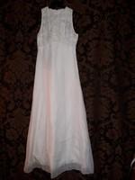 Fehér VOGUE Couture női vintage maxi ruha 38-as