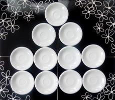 Alföldi fehér Saturnus kávés alátét tányérok 11db/ db