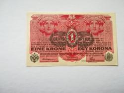 1916-os 1 Korona DÖ felülbélyegzett