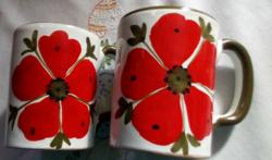 2 db olasz kerámia csésze