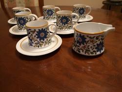 Praktikus Suisse Lagenthal porcelán kávés szettek (6db) tejkannával, hibátlanok