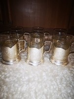 Ezüstözött pohár készlet