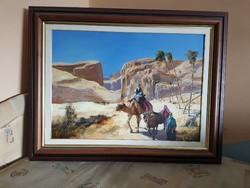 Eredeti Adilov Alim festmény Oázisban